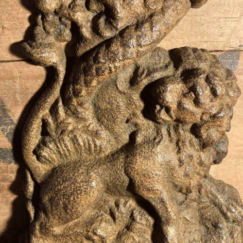Georgian Lion Serpent Doorstop