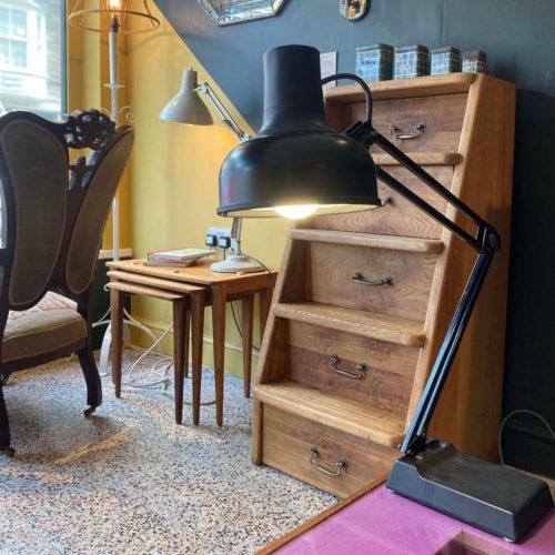 Black vintage angle poise lamp