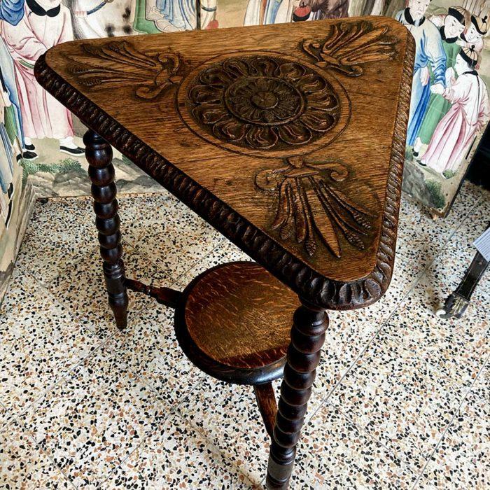 antique carved side table